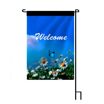 welcome-butterfly-garden-flag best price beautiful yard decore cheap custom